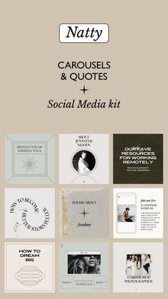 Social Media Template, Social Media Design, Social Media Graphics, Insta Layout, Instagram Feed Ideas Posts, Multiple Images, Carousels, Media Kit, Ig Post