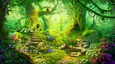 Fantasy Forest by CiCiY on DeviantArt