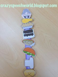 Crazy Speech World: Story Sticks!  A DIY for story sequencing and retell!