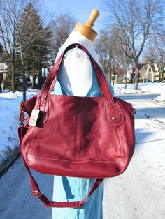 NWT The Sak Iris Shopper Satchel Crossbody Leather Tote Purse Red Punch New  #TheSak #Satchel