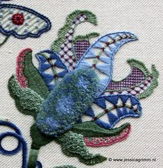 Finished crewelwork projects of the first group of Royal School of Needlework students in the Netherlands - the website is in Dutch but offers a lot of wonderful embroidery pictures