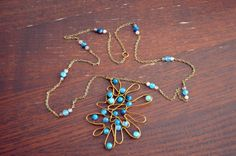 Handmade Healing Gemstone Blue Agate Antique by GemstoneWireLove