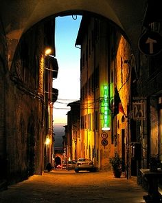 Cortona, Italy - I had the best meal of my life in this beautiful city - pasta with fresh black truffles