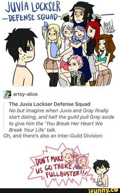 Gruvia. Haha, Lucy's and Natsu's faces though. And not quite sure what Gajeel's doing, but I love it. :)