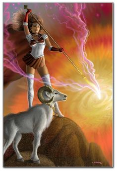 The fiery and radiant Princess of Wands symbolizes the Mastery of releasing and overcoming internal blocks, obstacles and obstructions, that the individual has placed on ones own consciousness. She represents the earthy facet of Fire, the fuel for Fire.