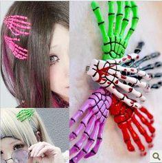 diy lindo mano esqueleto clip de la garra del cráneo accesorio para el pelo--Identificación del producto:1086993766-spanish.alibaba.com