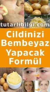 Cildinizi Bembeyaz Yapacak Formül – For Women Natural Skin, Natural Health, Junk Food, Skincare Blog, The Face, Homemade Skin Care, Tutorial, Beauty Skin, Food And Drink