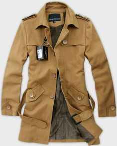 Calvin Klein Jeans, trench coat (sorry couldn't find a good link)