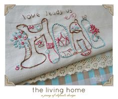 It's all about HOME...six home themed stitchery patterns.