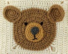 Teddy Bear Square Free Crochet Pattern