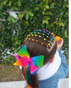 La imagen puede contener: flor, planta y exterior Lil Girl Hairstyles Braids, Easy Toddler Hairstyles, Cute Little Girl Hairstyles, Girls Natural Hairstyles, Braided Hairstyles, Hairdos, Wacky Hair, Girl Hair Dos, Crazy Hair Days