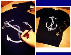 """""""Anchor in blue"""" (by Mar V.) Commission.  100% cotton Size M (woman) Colour: night blue  SOLD"""