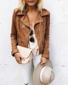 Tan suede jacket #outfit