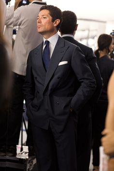 """Mr. Marzotto, Paris  """"It's like suit porn. I think a half-inch (minimum) of shirt collar showing over the jacket is so refined. Super subtle touches like that separate the men from the boys.""""  - The Sartorialist"""