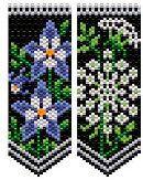 Columbine & Queen Anne's Lace Flower Panels at Sova-Enterprises.com Designed by Deb Moffett-Hall!