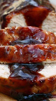 Balsamic Plum Glazed Pork Tenderloin