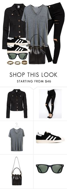 """Style #9634"" by vany-alvarado ❤ liked on Polyvore featuring Vero Moda, ASOS, T By Alexander Wang, adidas Originals, Yves Saint Laurent, Ray-Ban, Forever 21, women's clothing, women's fashion and women"