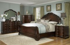 Get a new look for your bedroom with one of Coleman Furniture's bedroom sets from high quality brands. Sleigh Bedroom Set, Wood Bedroom Sets, Bedroom Furniture Sets, Bedroom Colors, Home Decor Bedroom, Bedroom Wall, Kids Furniture, Wolf Furniture, Sleigh Beds