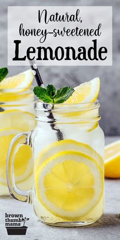 This delicious, homemade lemonade recipe is a burst of tart and sweet flavors–without corn syrup, artificial flavors, or dyes. A family favorite! #EasyRecipes #SummerTreat #Lemonade Homemade Lemonade Recipes, Homemade Detox, Recipe From Scratch, Recipe Using, Real Food Recipes, Healthy Recipes, Drink Recipes, Copycat Recipes, Dinner Recipes