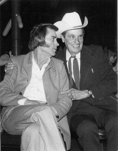 """Creative and Dreams Music Network remembers George Jones and Ernest Tubb, two legends we loved so dearly. We'd like to share this wonderful photo with everyone. We are proud to honor Country Music icons!  Thank you George Jones for helping us honor Ernest Tubb on his """"Legend and Legacy"""" Album with your performance on """"Filipino Baby and Half A Mind."""""""