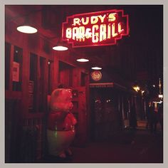 """Rudy's Bar & Grill """"never go at night"""""""