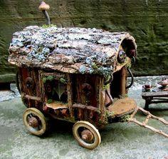 Fairy Travelers Caravan by pandorajane on Etsy #fairygardening