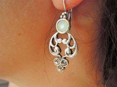 Boho Earring Chandelier Earrings Beaded Earrings by ebrukjewelry Bridal Earrings, Beaded Earrings, Drop Earrings, England Fashion, Casual Wedding, Blue Beads, Bohemian Jewelry, Chandelier Earrings, Dangles