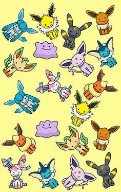 Pokemon Eevee Evolutions Play Catch Em All Art