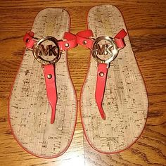 MICHAEL MICHAEL KORS SANDALS. Really nice and in a really good condition barely used red-rubbert strap..size 8M Michael Kors Shoes Sandals
