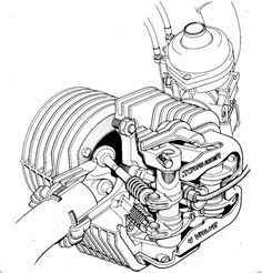 BMW R75/5 Engine and 4 speed gearbox cutaway (With images