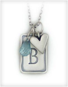 Custom Charm Necklace - www.heartandstonejewelry.com