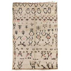 Vintage Moroccan Beni Sadden Carpet