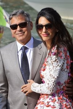 George Clooney Wedding Pictures - Amal Alamuddin and George Clooney Marriage in Venice - Harper's BAZAAR
