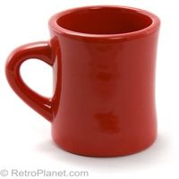 Classic Diner Coffee Mug in Red  http://www.retroplanet.com/PROD/32018