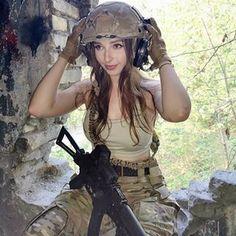 N Girls, Cute Girls, Airsoft Girls, Cosplay, Amazing Women, Beautiful Women, Self Defense Women, Female Soldier, Military Women