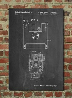 Floppy Disk Patent Art Print, Patent Art, Blueprint, Patent Print, PatentPrints