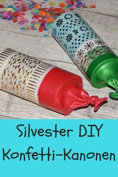 Make confetti cannons for children for New Years Eve. These cool party popper . - Make confetti cannons for children for New Years Eve. This cool party popper si … Make confetti c - Diy Silvester, Party Poppers, Diy Crafts To Do, Diy Tops, Cute Summer Dresses, Hot Sauce Bottles, New Years Eve, Kids And Parenting, Mardi Gras