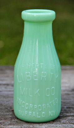 Vintage Inspired Jadite Milk Bottle - Marmalade Mercantile