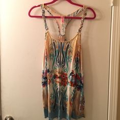 Free People Tank SO cute, trippy pattern ✌️ braids for straps with hardware  Free People Tops