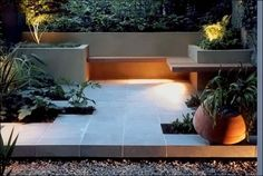 Low volt lighting. Contemporary garden design. #lowvoltlighting