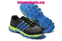 Adidas Men's adiSTAR Raven Trail Running Shoe Blackout Treasure Blue Volt [Lebron X Denim 094] -$61.75
