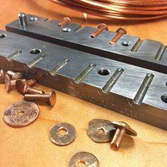 Copper rivet making tool 9 rivets от Heromount на Etsy