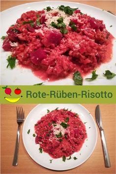 Rote Rüben immer nur als Salat ist euch zu langweilig? Dann probiert mal unser Rote-Rüben-Risotto aus! Ethnic Recipes, Food, Risotto Recipes, Good Food, Food Food, Essen, Meals, Yemek, Eten