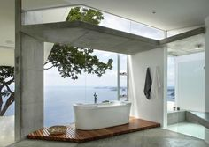 Designed for Life., odes-to-a-house: Bathtub with overlooking sea...