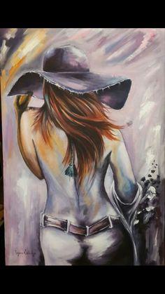 Acrylic painting artwork  human figure