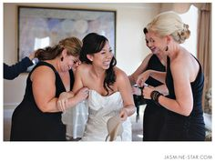 Love how this shows the bride/bridesmaids having such a good time before the big moment! :)