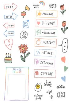 Planner Stickers - Manage Your Time With This Helpful Advice Bullet Journal Aesthetic, Bullet Journal Art, Bullet Journal Ideas Pages, Bullet Journal Inspiration, Journal Stickers, Planner Stickers, Printable Stickers, Cute Stickers, Mini Drawings
