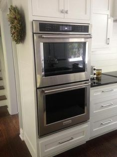 KitchenAid 30 In. Double Electric Wall Oven Self Cleaning With Convection  In Stainless Steel