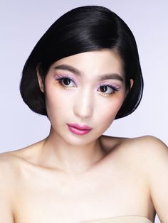 """Discover the products behind this adorable """"Girly"""" look part of the Pastel Fantasy collection by shu uemura."""