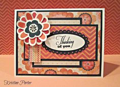 CTMH Clair paper, Girls Rule & Casual Expressions stamps. Outdoor Denim cardstock and ink, as well as Hollyhock and Tulip Inks.Card base is Colonial White and the flower is popped with a clear sparkle gem in the center.